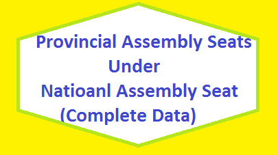 Provincial Assembly Seats Under National Assembly Seats