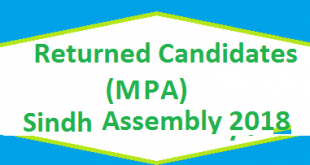 Returned Candidates List MPA Sindh Assembly 2018