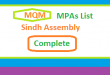 Sindh Assembly MQM MPA List - Election 2018