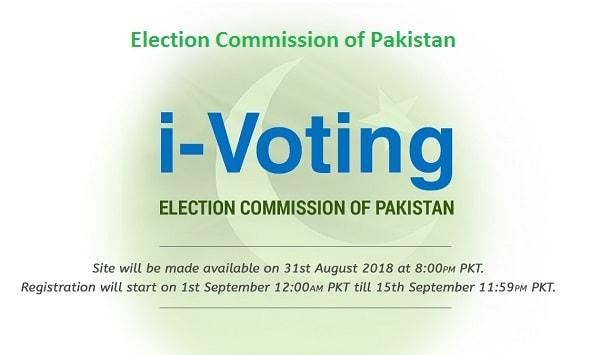 i-Voting for Overseas Pakistanis - Voters Registration started today on 1st September 2018 til 15 September 2018