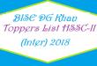 BISE DG Khan Toppers List of Position Holders Names HSSC-II FA FSC Exam Result 2018