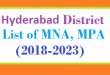 Hyderabad District List of MNA and MPA Assembly Tenure 2018 to 2023
