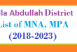 Killa Abdullah District List of MNA and MPA Assembly Tenure 2018 to 2023