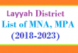 Layyah District List of MNA and MPA Assembly Tenure 2018 to 2023