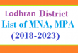 Lodhran District List of MNA and MPA Assembly Tenure 2018 to 2023