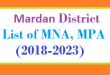 Mardan District List of MNA and MPA Assembly Tenure 2018 to 2023