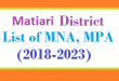 Matiari District List of MNA and MPA Assembly Tenure 2018 to 2023