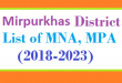 Mirpur khas District List of MNA and MPA Assembly Tenure 2018 to 2023