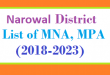 Narowal District List of MNA and MPA Assembly Tenure 2018 to 2023
