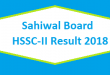 Sahiwal BISE Board HSSC-II Inter Part 2 FA FSc Result 2018 Online Toppers