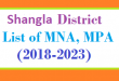 Shnagla District List of MNA and MPA Assembly Period 2018 to 2023