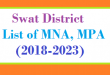 Swat District List of MNA and MPA Assembly Period 2018 to 2023