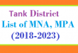 Tank District List of MNA and MPA Assembly Tenure 2018 to 2023