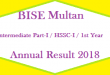 BISE Multan Intermediate Part 1 FA FSc First Year Annual Result 2018 Online