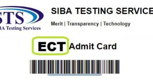 ECT Admit Card Online for Test - STS Siba Testing Service IBA Sukkur