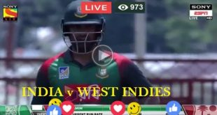 India Vs West Indies (IND Vs WI) Live Cricket Test Match Today Day 1 Hyderabad Online 12, 13, 14, 15, 16 Oct 2018-min