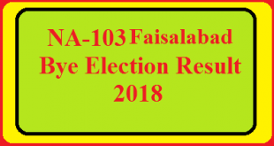 NA-103 Faisalabad By Election Result 2018 Live Detail Update Online