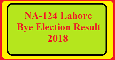 NA-124 Lahore By Election Result 2018 Live Detail Update Online