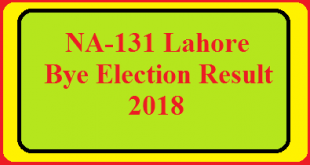 NA-131 Lahore Bye Elections 2018 Live Detail Update Online