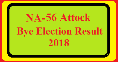 NA-56 Attock By Election Result 2018 Live Detail Update Online