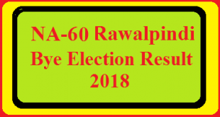 NA-60 Rawalpindi By Election Result 2018 Live Detail Update Online