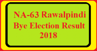 NA-63 Rawalpindi By Election Result 2018 Live Detail Update Online