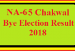 NA-65 Chakwal By Election Result 2018 Live Detail Update Online