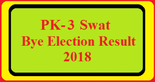 PK-3 Swat By Election Result 2018 Live Detail Update Online