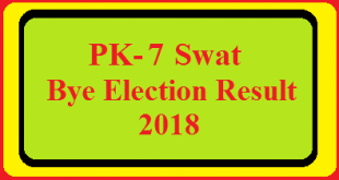 PK-7 Swat By Election Result 2018 Live Detail Update Online