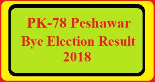 PK-78 Peshawar By Election Result 2018 Live Detail Update Online