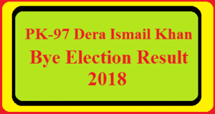 PK-97 Dera Ismail Khan By Election Result 2018 Live Detail Update Online