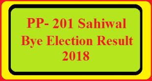 PP-201 Sahiwal By Election Result 2018 Live Detail Update Online