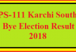 PS-111 Karachi South By Election Result 2018 Live Detail Update Online