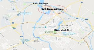 Location Map Goth Karam Ali Shoro Hyderabad Near Kotri Barriage - PPP Jalsa - Asif Ali zardari Address 15-12-2018-min