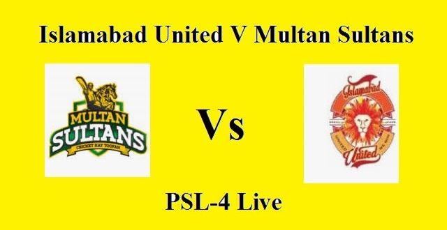 Live PTV Sports   IU Vs MS SPL 4th Match   Islamabad United