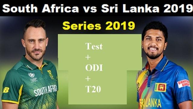Sri Lanka Vs South Africa Series 2019 Schedule Fixture
