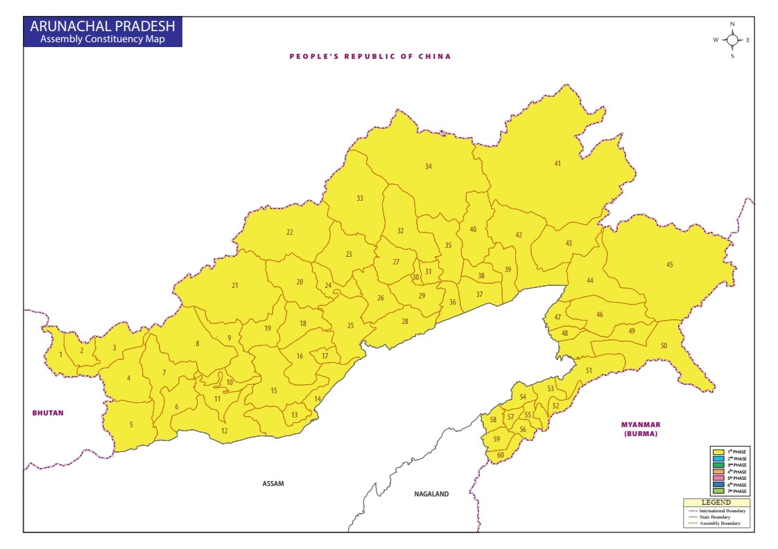 Arunachal Pradesh State - Legislative Assembly Seats ...