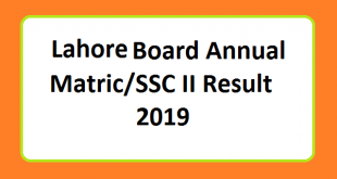 FBISE Matric/SSC part II Result 2019